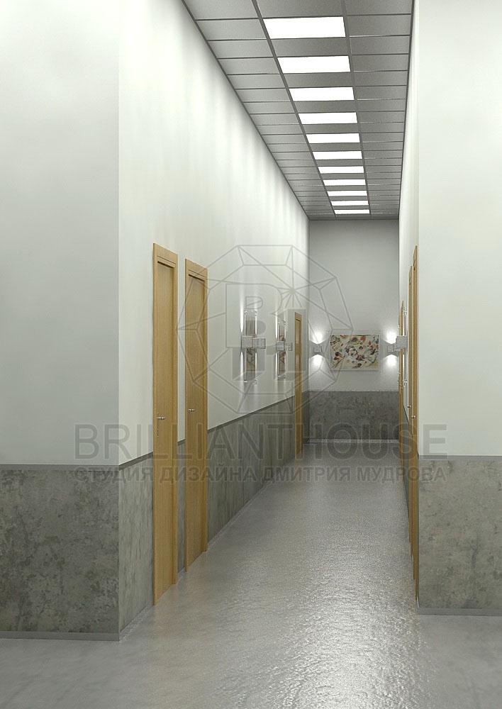 Интерьер Офисного Коридора