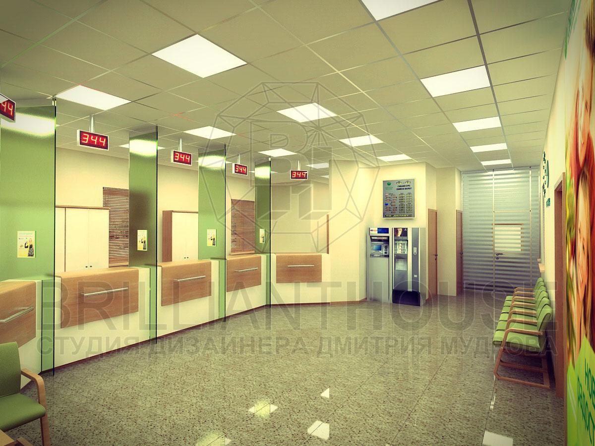 Дизайн офиса сбербанка
