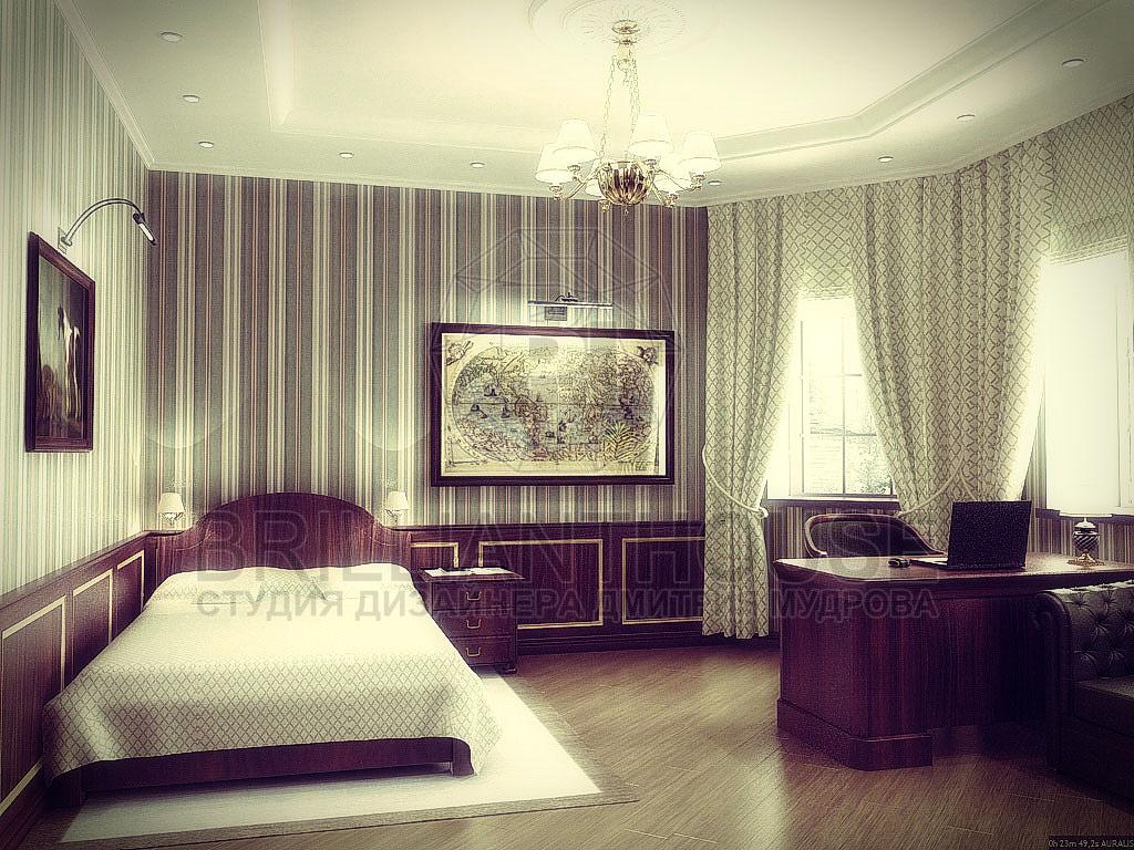 Кабинет, совмещенный со спальней