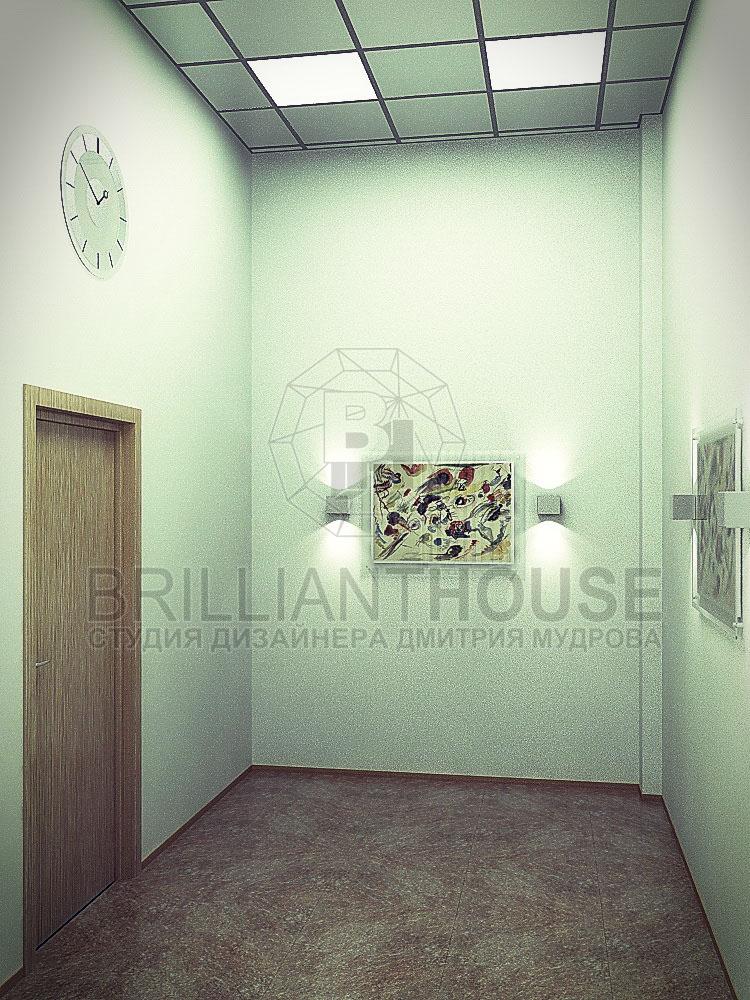 Дизайн офисного коридора