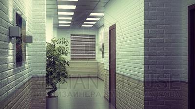 Интерьер коридора в офисе (1)