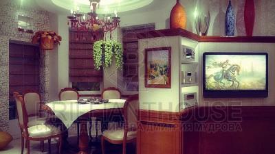 Интерьер столовой в частном жилом доме (2)