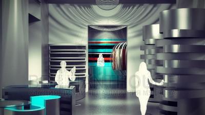 Дизайн интерьера салона тканей (3)