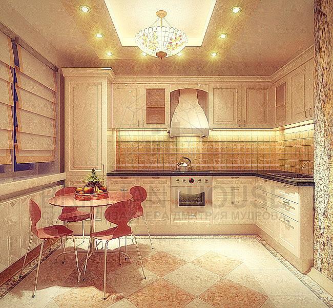 Кухня п-3 дизайн