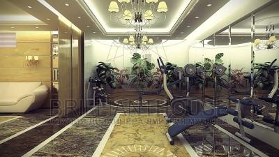 Интерьер помещения отдыха сауны (1)