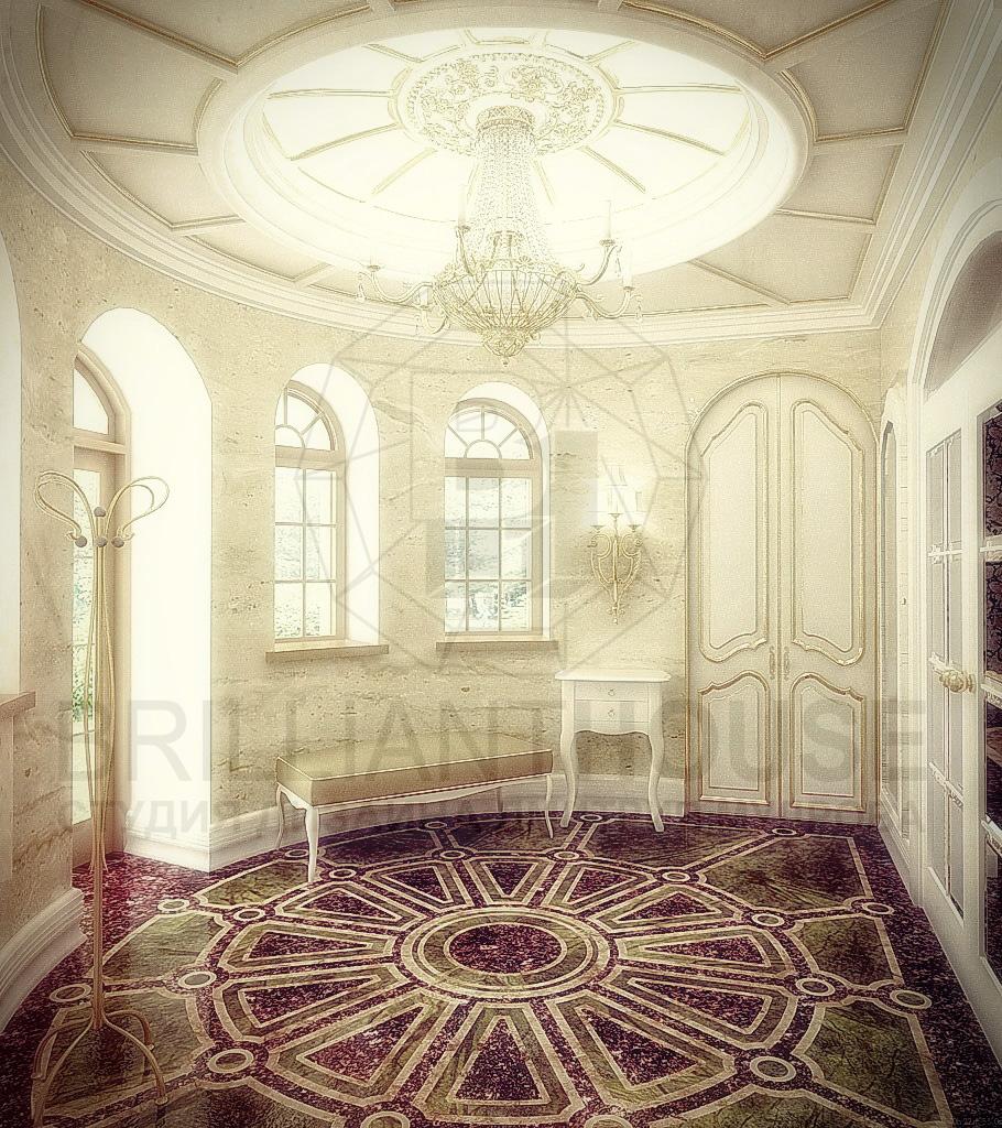 Роскошный интерьер холла