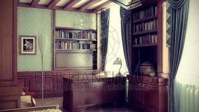 Дизайн спальни совмещенной с кабинетом (1)