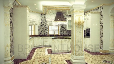 Интерьер кухни в частном доме (5)