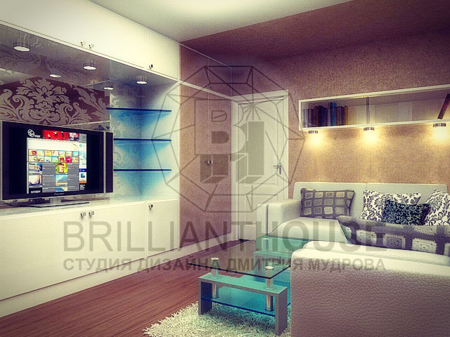 Дизайн спальни-гостиной