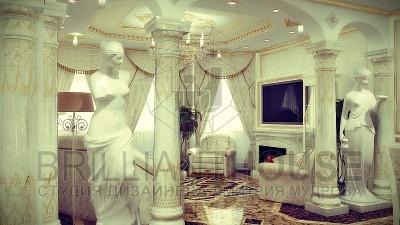 Классическая гостиная интерьер (1)