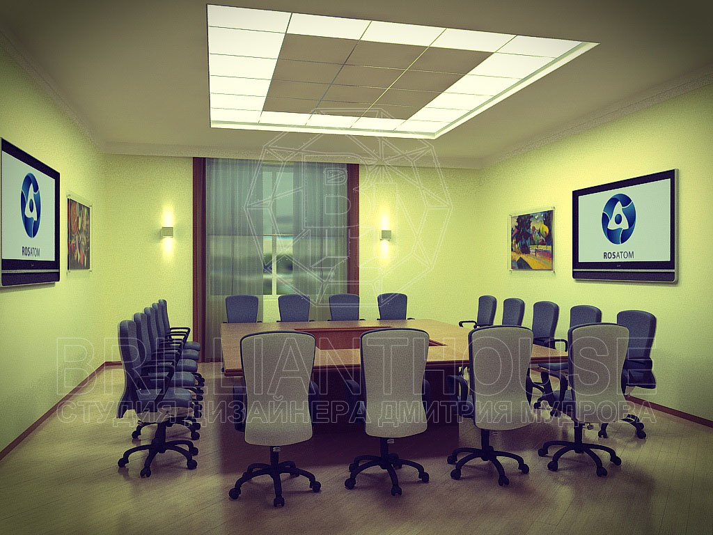 Дизайн переговорной в офисе