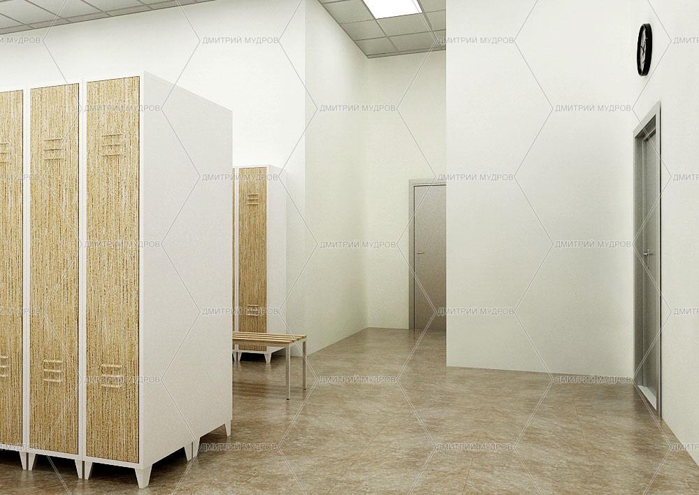 Дизайн офисной раздевалки
