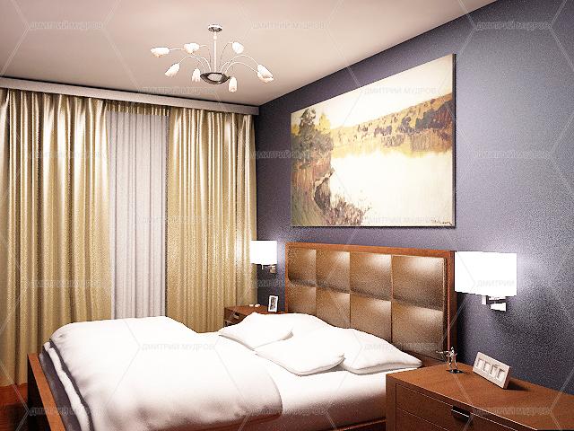 Дизайн спальни в двухкомнатной