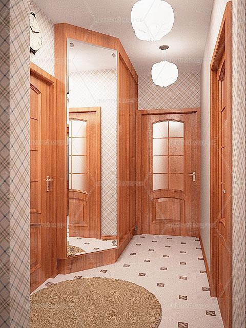 дизайн коридора в двухкомнатной квартире фото