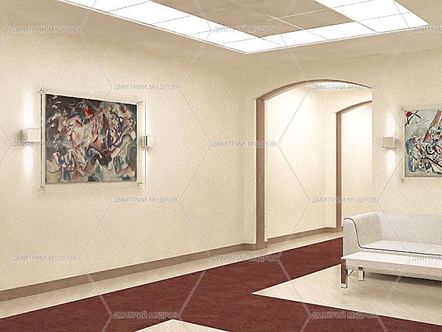 Дизайн коридора офиса